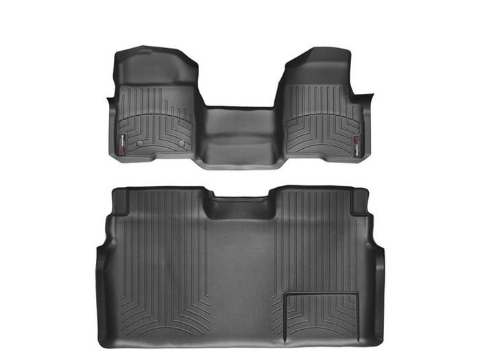 WeatherTech DigitalFit Floor Mats for 2009-2014 Ford F-150 [Covers Front & Rear, Black] (WEA94765)