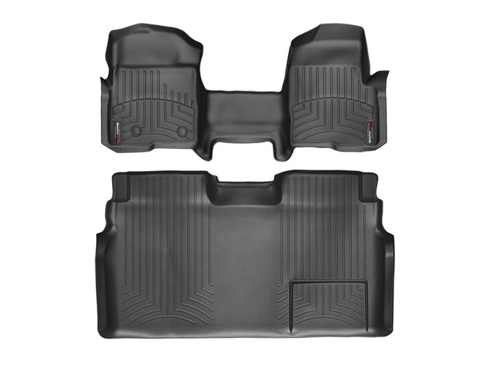 WeatherTech DigitalFit Floor Mats for 2009-2014 Ford F-150 [Covers Front & Rear, Black] (WEA95065)