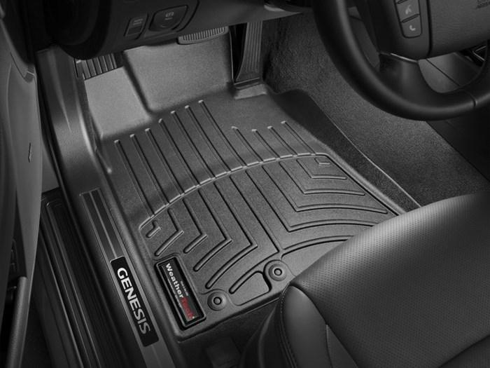 WeatherTech DigitalFit Floor Mats for 2009-2014 Hyundai Genesis [Covers Front, Black] (WEA95006)