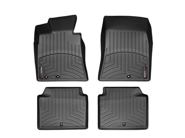 WeatherTech DigitalFit Floor Mats for 2009-2014 Hyundai Genesis [Covers Front & Rear, Black] (WEA95007)