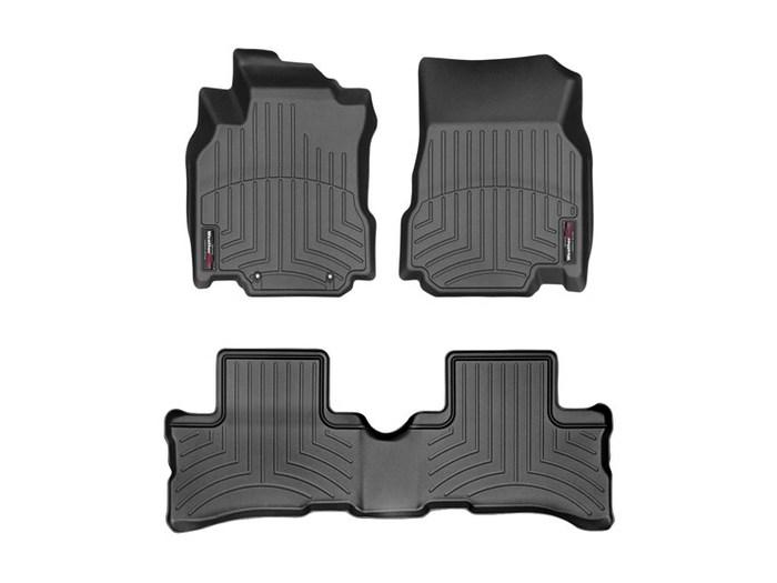 WeatherTech DigitalFit Floor Mats for 2009-2014 Nissan Cube [Covers Front & Rear, Black] (WEA94659)