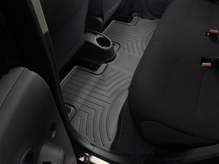WeatherTech DigitalFit Floor Mats for 2009-2014 Nissan Cube [Covers Rear, Black] (WEA94661)