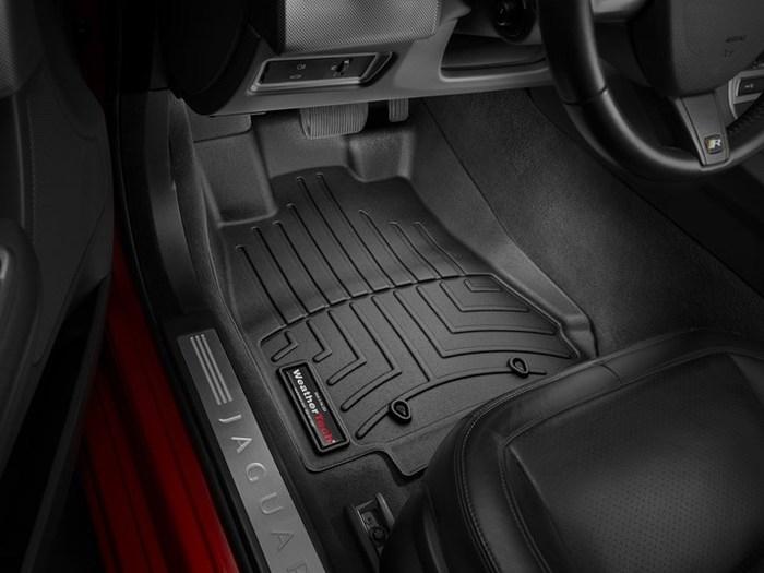 WeatherTech DigitalFit Floor Mats for 2009-2015 Jaguar XF [Covers Front, Black] (WEA95144)