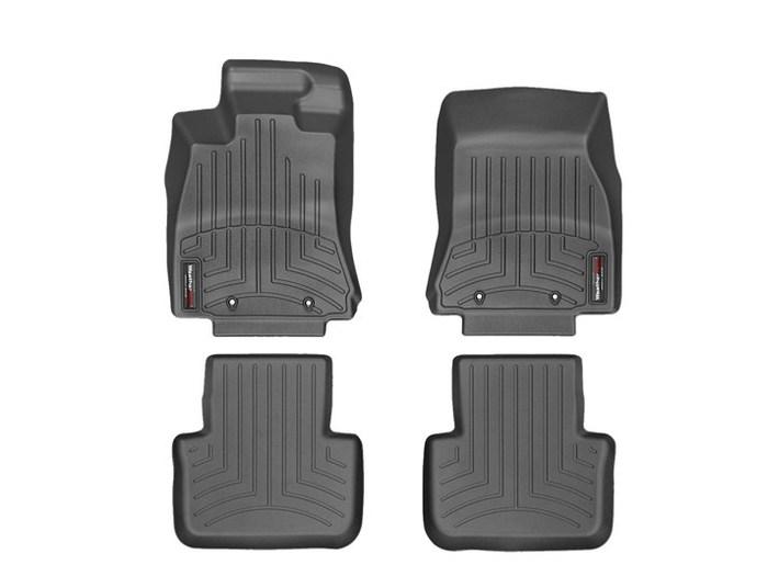 WeatherTech DigitalFit Floor Mats for 2009-2015 Jaguar XF [Covers Front & Rear, Black] (WEA95142)