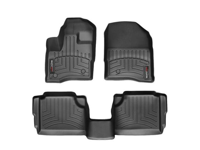 WeatherTech DigitalFit Floor Mats for 2009-2015 Lincoln MKS [Covers Front & Rear, Black] (WEA94789)