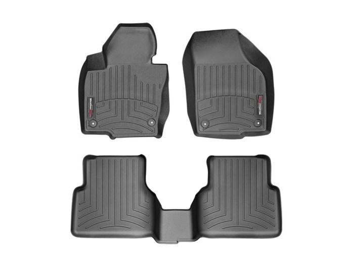 WeatherTech DigitalFit Floor Mats for 2009-2017 Volkswagen Tiguan [Covers Front & Rear, Black] (WEA95372)