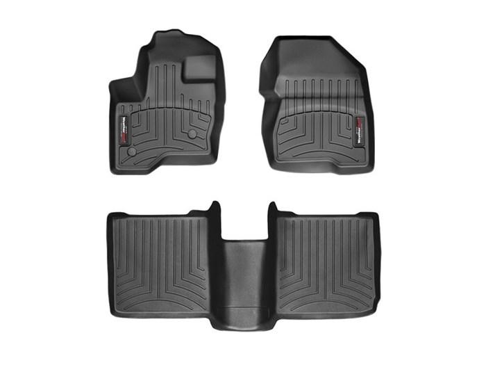 WeatherTech DigitalFit Floor Mats for 2009-2018 Ford Flex [Covers Front & Rear, Black] (WEA94823)