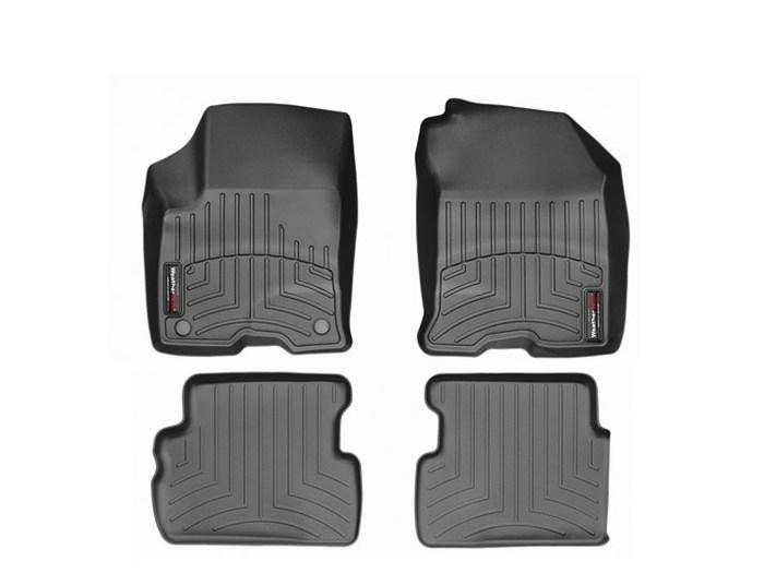 WeatherTech DigitalFit Floor Mats for 2010-2011 Ford Focus [Covers Front & Rear, Black] (WEA94787)