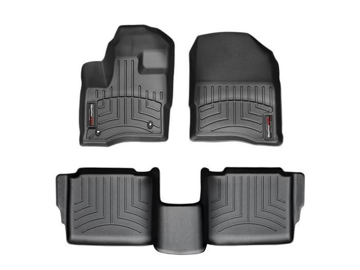 WeatherTech DigitalFit Floor Mats for 2010-2011 Ford Taurus [Covers Front & Rear, Black] (WEA94682)
