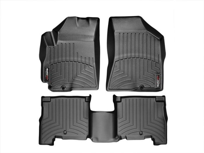 WeatherTech DigitalFit Floor Mats for 2010-2011 Hyundai Santa Fe [Covers Front & Rear, Black] (WEA94776)