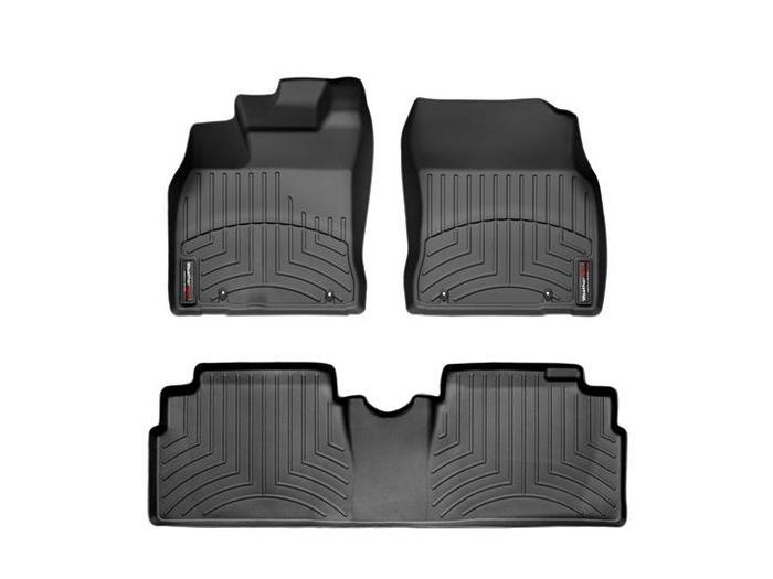 WeatherTech DigitalFit Floor Mats for 2010-2011 Lexus HS250h [Covers Front & Rear, Black] (WEA94716)