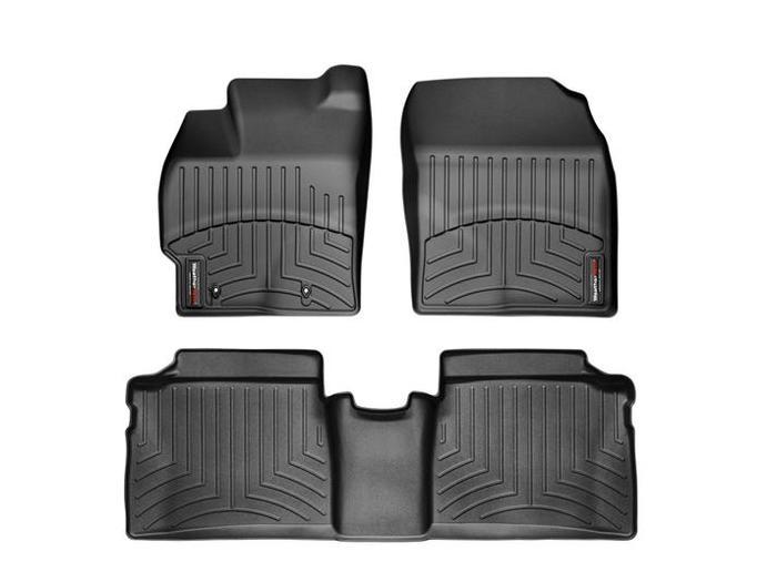 WeatherTech DigitalFit Floor Mats for 2010-2011 Toyota Prius [Covers Front & Rear, Black] (WEA94645)