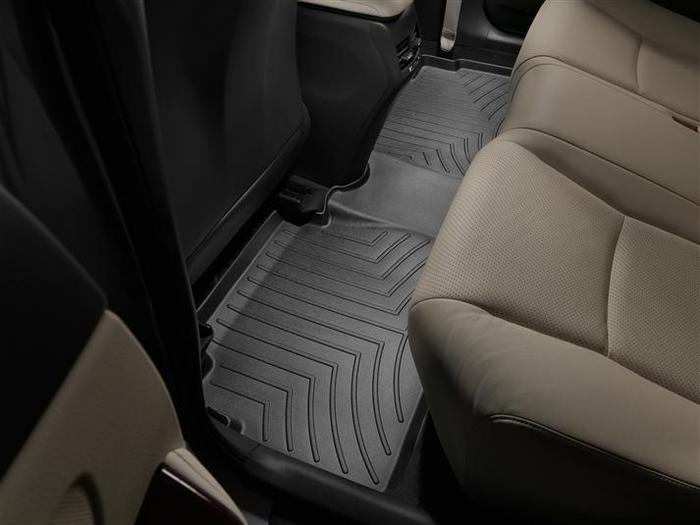 WeatherTech DigitalFit Floor Mats for 2010-2012 Lexus HS250h [Covers Rear, Black] (WEA94718)