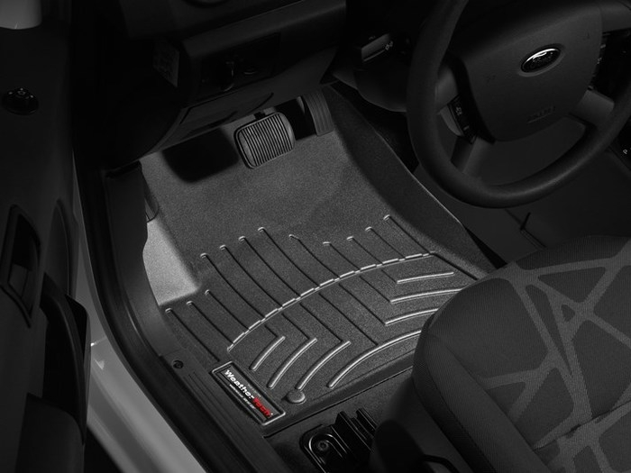 WeatherTech DigitalFit Floor Mats for 2010-2013 Ford Transit Connect [Covers Front, Black] (WEA94980)