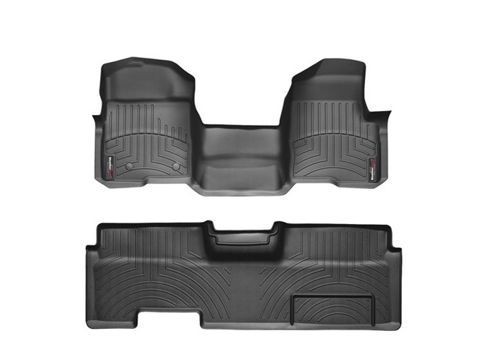 WeatherTech DigitalFit Floor Mats for 2010-2014 Ford F-150 [Covers Front & Rear, Black] (WEA94764)