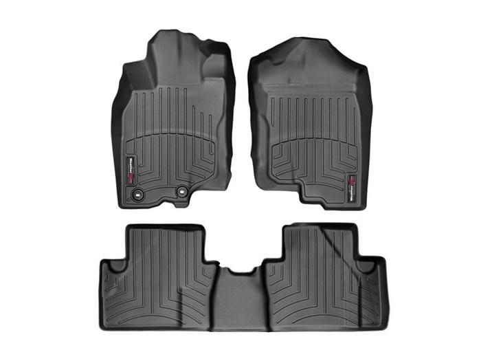 WeatherTech DigitalFit Floor Mats for 2010-2014 Honda Insight [Covers Front & Rear, Black] (WEA95428)