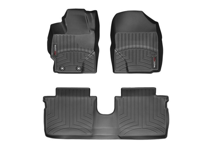 WeatherTech DigitalFit Floor Mats for 2010-2014 Toyota Yaris [Covers Front & Rear, Black] (WEA95075)