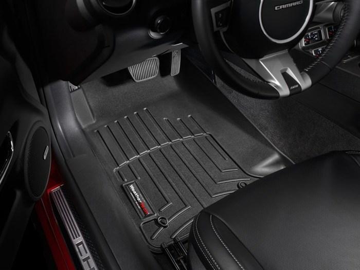 WeatherTech DigitalFit Floor Mats for 2010-2015 Chevrolet Camaro [Covers Front, Black] (WEA94676)