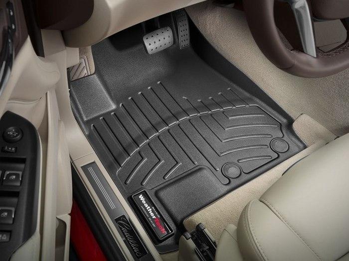 WeatherTech DigitalFit Floor Mats for 2010-2016 Cadillac SRX [Covers Front, Black] (WEA95321)
