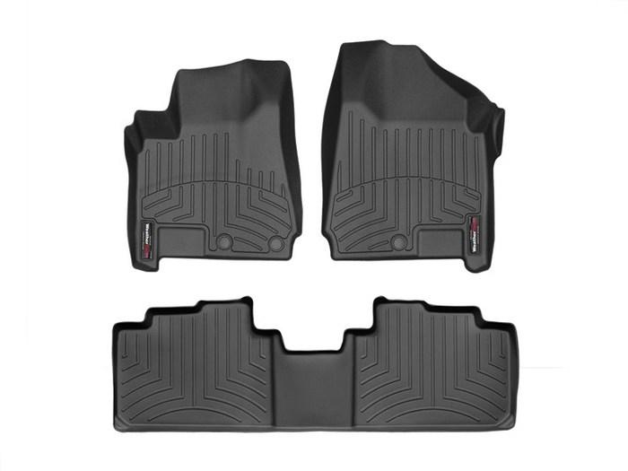 WeatherTech DigitalFit Floor Mats for 2010-2016 Cadillac SRX [Covers Front & Rear, Black] (WEA95322)
