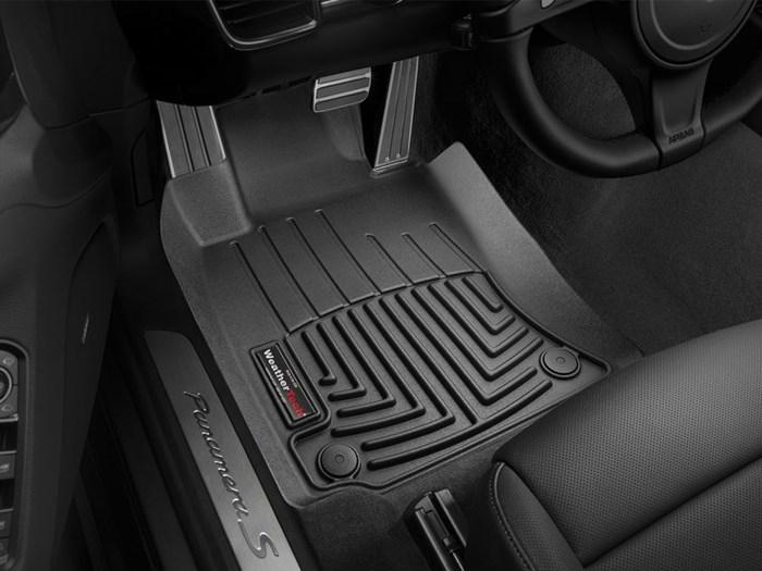 WeatherTech DigitalFit Floor Mats for 2010-2016 Porsche Panamera [Covers Front, Black] (WEA94650)