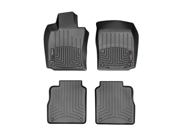 WeatherTech DigitalFit Floor Mats for 2010-2016 Porsche Panamera [Covers Front & Rear, Black] (WEA94649)