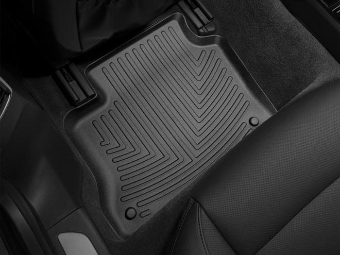WeatherTech DigitalFit Floor Mats for 2010-2016 Porsche Panamera [Covers Rear, Black] (WEA94651)