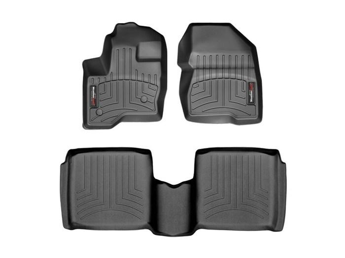 WeatherTech DigitalFit Floor Mats for 2010-2018 Lincoln MKT [Covers Front & Rear, Black] (WEA94824)