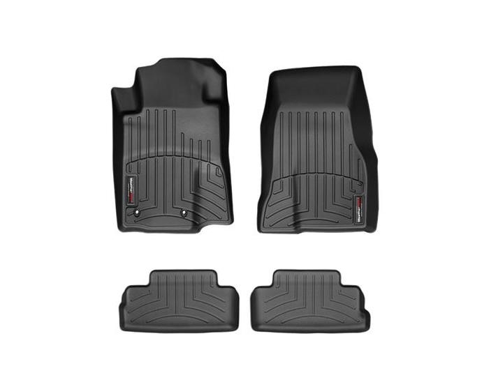 WeatherTech DigitalFit Floor Mats for 2010 Ford Mustang [Covers Front & Rear, Black] (WEA94699)