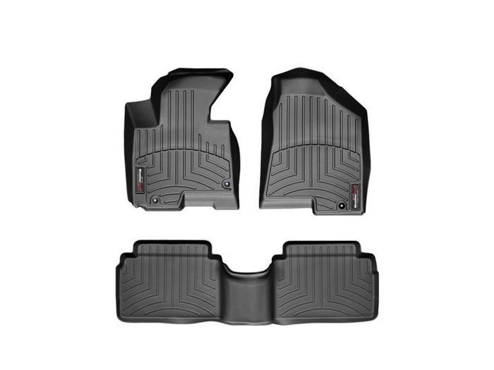 WeatherTech DigitalFit Floor Mats for 2010 Hyundai Tucson [Covers Front & Rear, Black] (WEA94746)