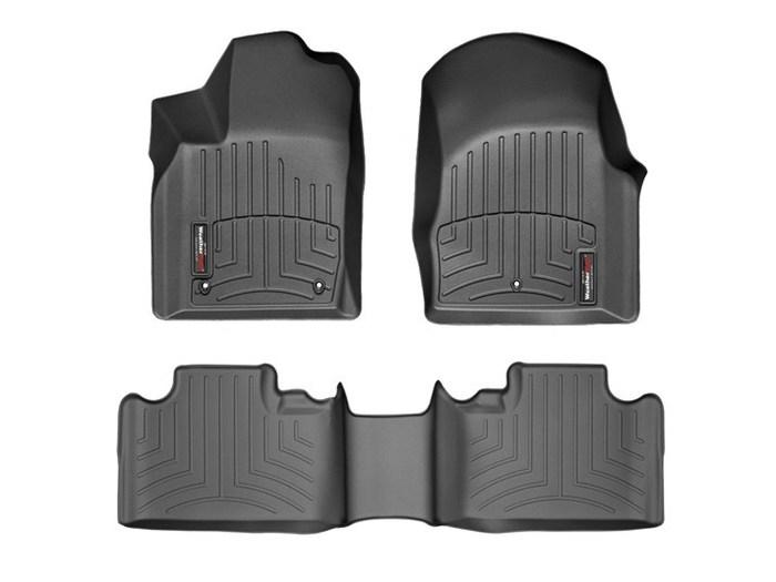 WeatherTech DigitalFit Floor Mats for 2011-2012 Dodge Durango [Covers Front & Rear, Black] (WEA94859)