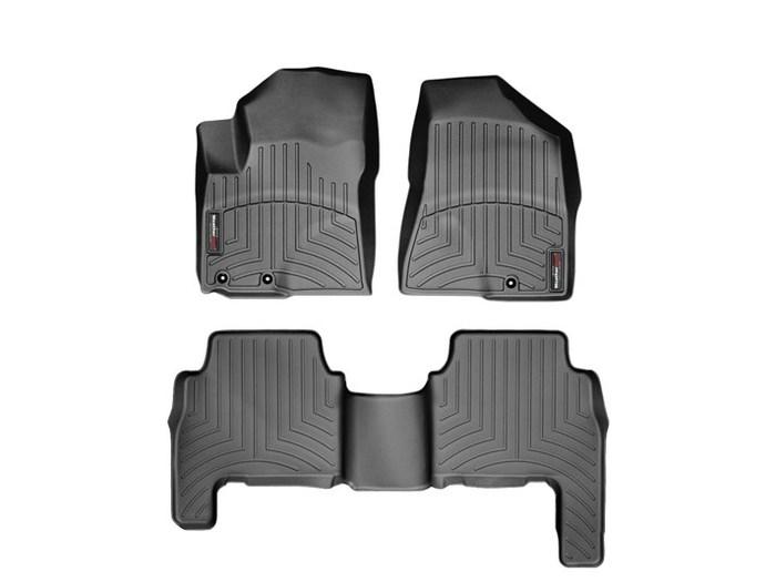 WeatherTech DigitalFit Floor Mats for 2011-2012 Kia Sorento [Covers Front & Rear, Black] (WEA94734)