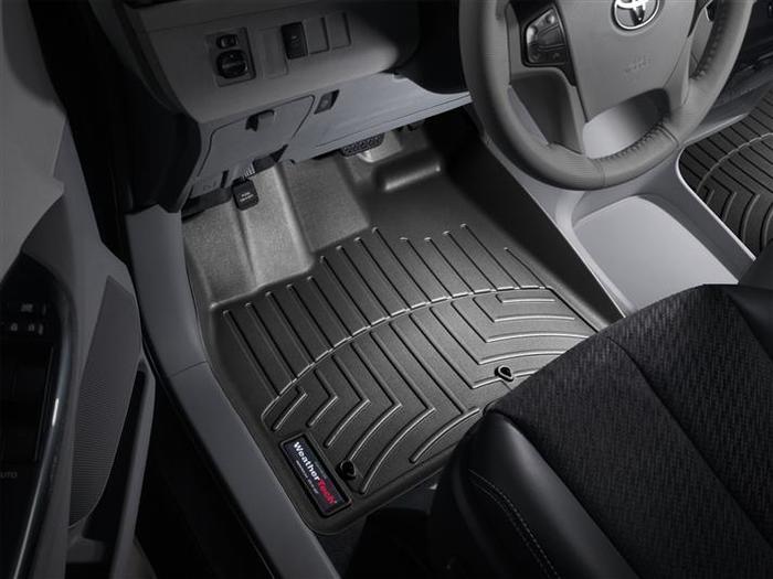 WeatherTech DigitalFit Floor Mats for 2011-2012 Toyota Sienna [Covers Front, Black] (WEA94782)