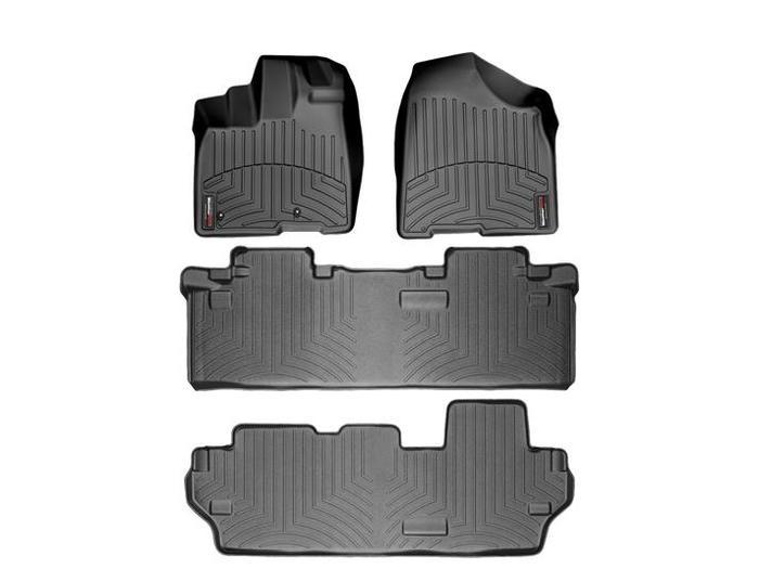 WeatherTech DigitalFit Floor Mats for 2011-2012 Toyota Sienna [Covers Front & Rear, Black] (WEA94780)