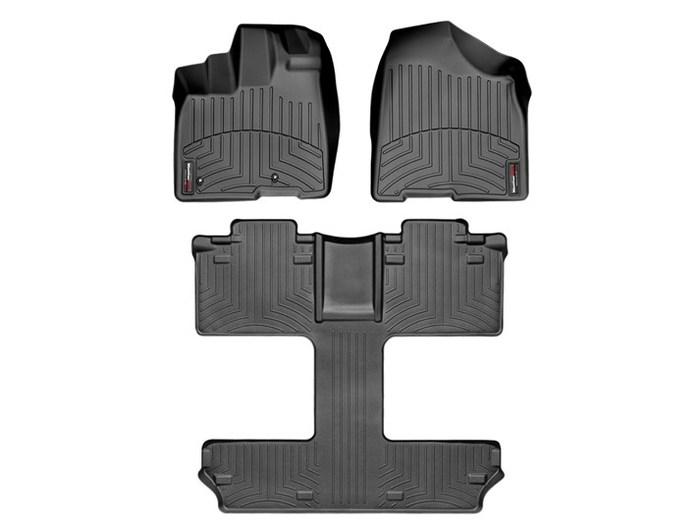 WeatherTech DigitalFit Floor Mats for 2011-2012 Toyota Sienna [Covers Front & Rear, Black] (WEA94781)