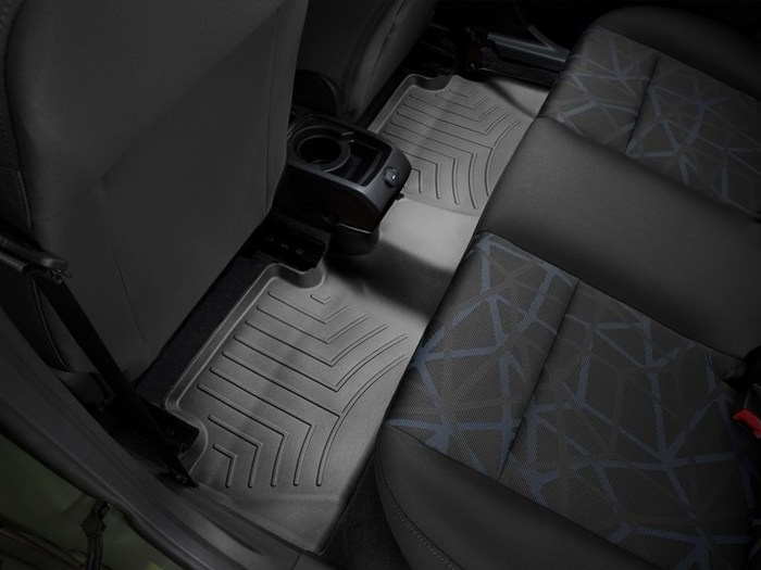 WeatherTech DigitalFit Floor Mats for 2011-2013 Ford Fiesta [Covers Rear, Black] (WEA94856)