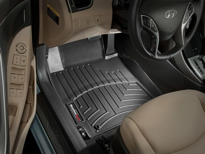 WeatherTech DigitalFit Floor Mats for 2011-2013 Hyundai Elantra [Covers Front, Black] (WEA94867)