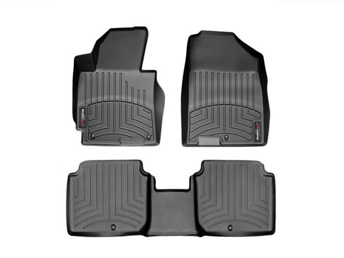 WeatherTech DigitalFit Floor Mats for 2011-2013 Hyundai Elantra [Covers Front & Rear, Black] (WEA94866)