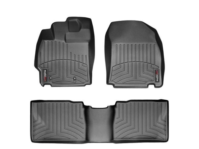 WeatherTech DigitalFit Floor Mats for 2011-2013 Scion tC [Covers Front & Rear, Black] (WEA94914)