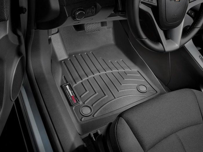 WeatherTech DigitalFit Floor Mats for 2011-2014 Chevrolet Cruze [Covers Front, Black] (WEA95325)