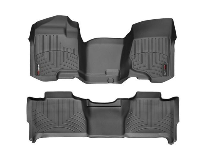 WeatherTech DigitalFit Floor Mats for 2011-2014 Chevrolet Tahoe [Covers Front & Rear, Black] (WEA94759)