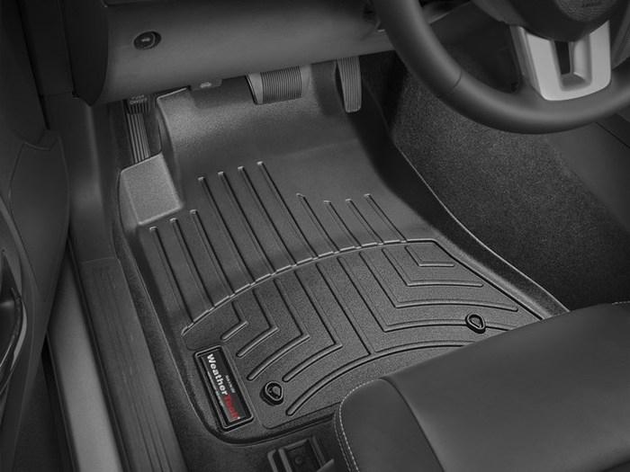WeatherTech DigitalFit Floor Mats for 2011-2014 Dodge Challenger [Covers Front, Black] (WEA95018)