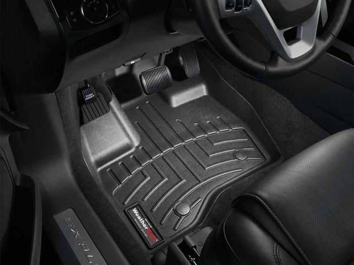WeatherTech DigitalFit Floor Mats for 2011-2014 Ford Explorer [Covers Front, Black] (WEA94955)