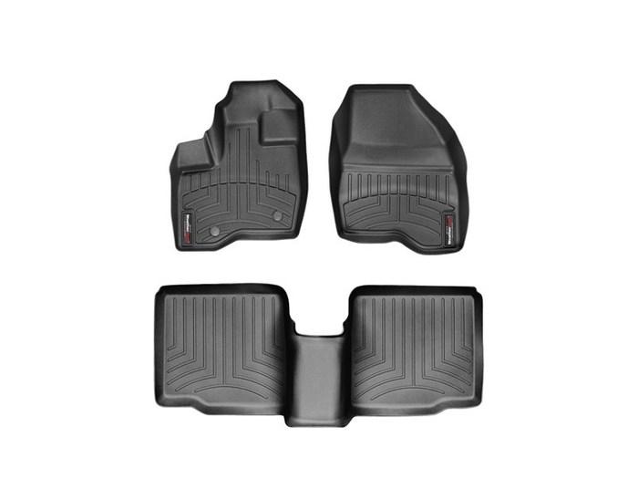 WeatherTech DigitalFit Floor Mats for 2011-2014 Ford Explorer [Covers Front & Rear, Black] (WEA94951)