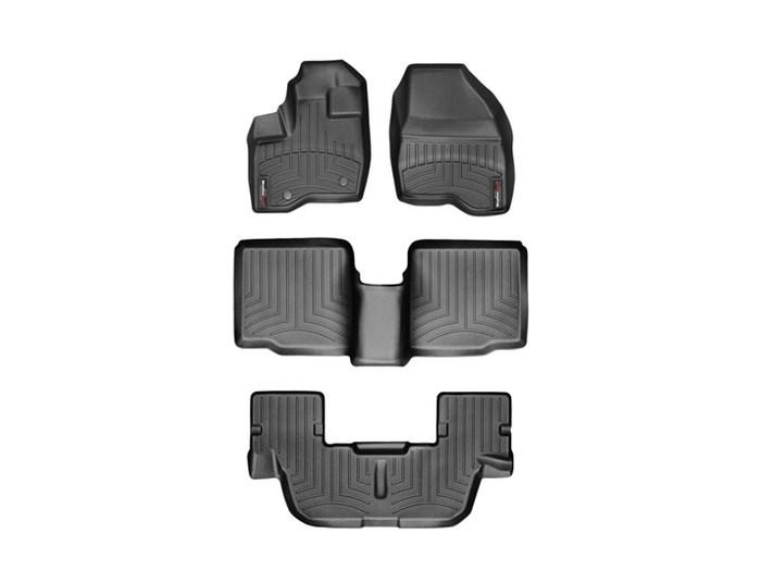 WeatherTech DigitalFit Floor Mats for 2011-2014 Ford Explorer [Covers Front & Rear, Black] (WEA94952)