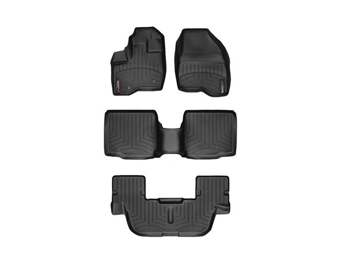 WeatherTech DigitalFit Floor Mats for 2011-2014 Ford Explorer [Covers Front & Rear, Black] (WEA94954)