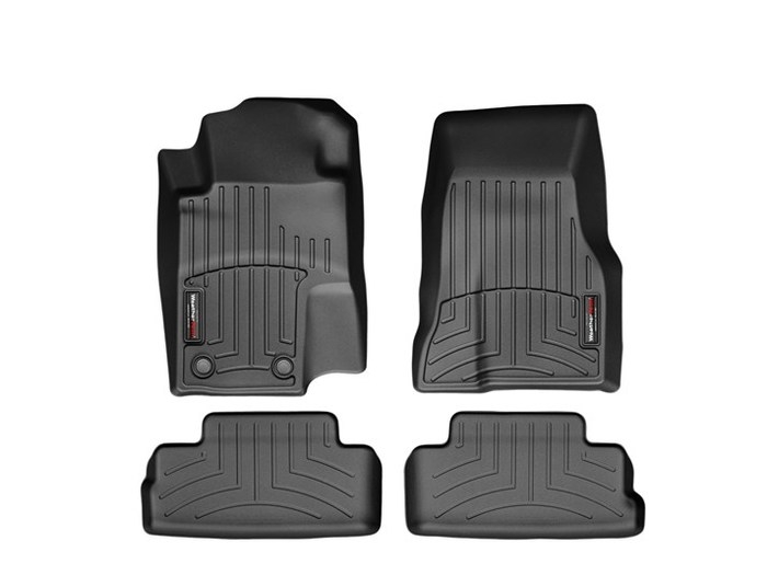 WeatherTech DigitalFit Floor Mats for 2011-2014 Ford Mustang [Covers Front & Rear, Black] (WEA94922)