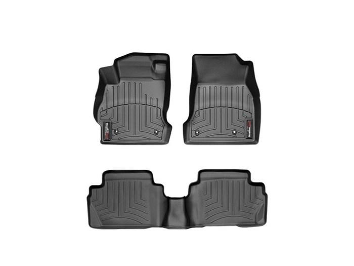 WeatherTech DigitalFit Floor Mats for 2011-2014 Mazda 2 [Covers Front & Rear, Black] (WEA94689)