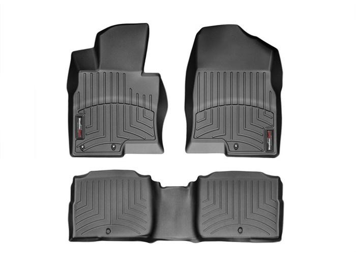 WeatherTech DigitalFit Floor Mats for 2011-2015 Kia Optima [Covers Front & Rear, Black] (WEA94768)