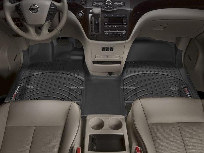 WeatherTech DigitalFit Floor Mats for 2011-2015 Nissan Quest [Covers Front, Black] (WEA94978)